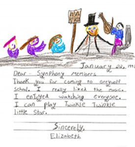 sweet letter from student