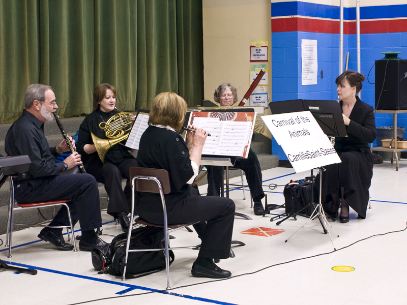 symphony members play Peter and the Wolf