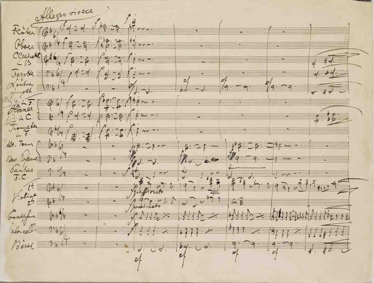 Brahms 3rd Symphony Score
