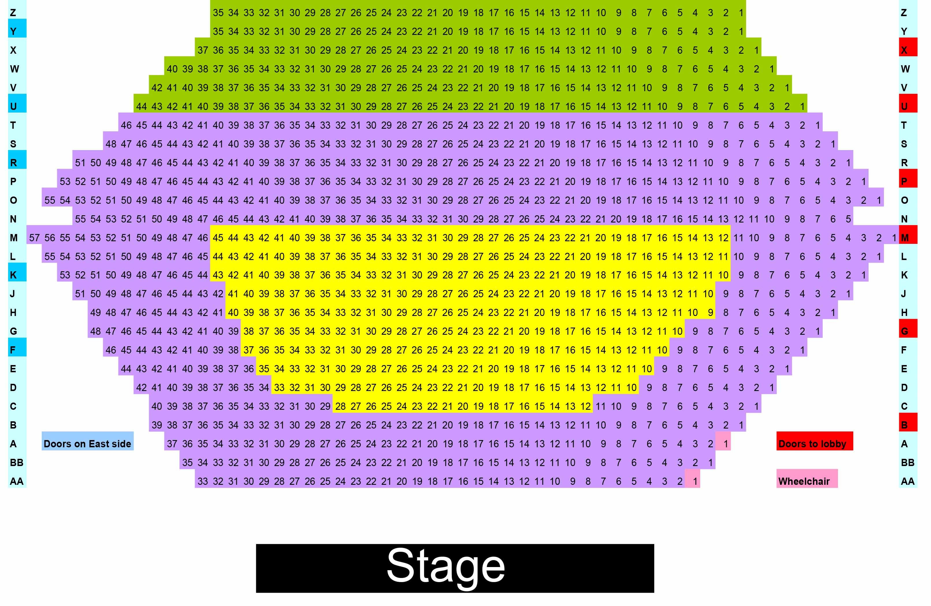detailed seating chart
